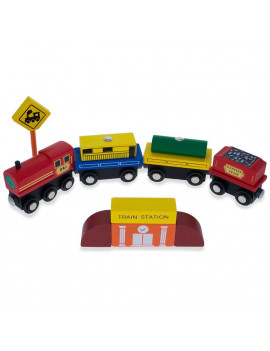 BestPysanky Set of 40 Pieces City Vehicles, Buildings, and Signs Wooden Blocks