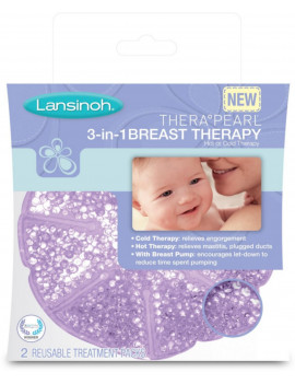3 Pack - Lansinoh Thera Pearl 3-in-1 Breast Therapy 2 Each