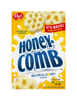 Post, Honey Comb Corn & Oat Breakfast Cereal, 16 Oz