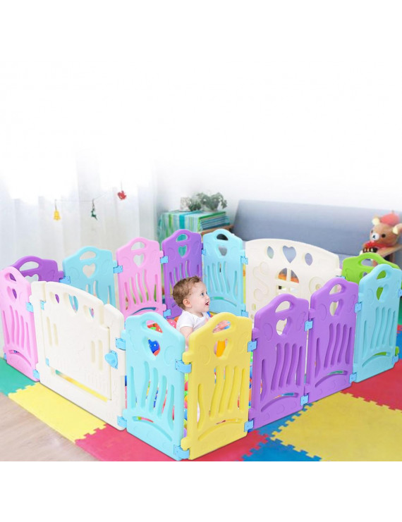 Baby Play Fence Children Activity Center Security Game Bed Home Indoor Outdoor