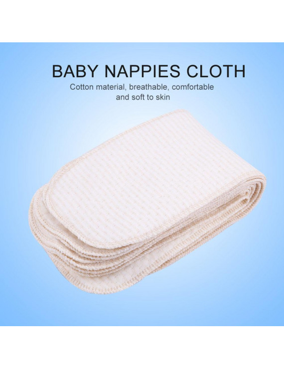 FAGINEY Nappy Liners,10Pcs/lot Breathable Cotton Baby Nappies Newborn Reusable Washable Insert Diaper Cloth, Newborn Cloth Diapers