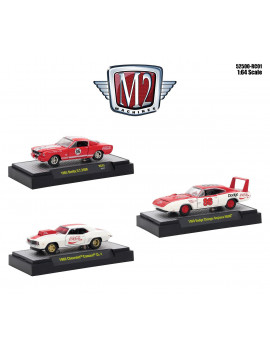 """""""Coca-Cola"""" Set of 3 pieces Limited Edition to 4,800 pieces """"Hobby Exclusive"""" 1/64 Diecast Model Cars by M2 Machines"""