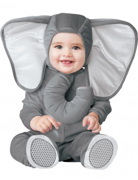 Baby Elephant Unisex Infant Grey Zoo Animal Halloween Costume