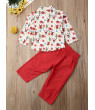 Christmas Toddler Baby Boys Clothes T-shirt Tops+ Pants Outfit Set Xmas Clothes