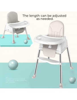 Adjustable Baby High Chair Infant Toddler Feeding Booster Seat Folding, Baby Chair, Baby High Chair,3 in 1 Multi-Function Baby Toddler High Chair Adjustable Play Table