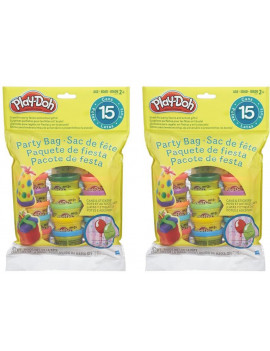 (2 pack) Play-Doh Party Bag Includes 15 Colorful Cans of Play-Doh, 1 Ounce Cans (30 oz)