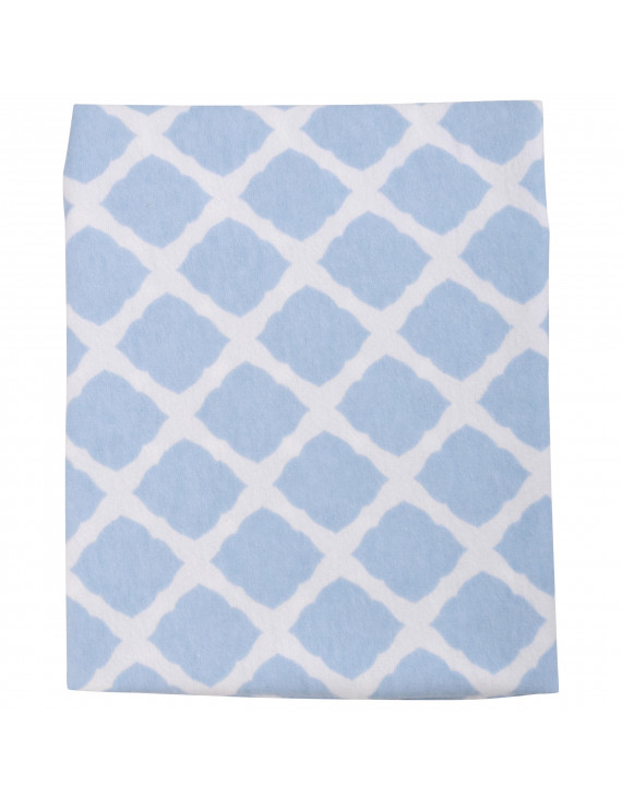 Kushies® Ben & Noa Blue/White Changing Pad Cover