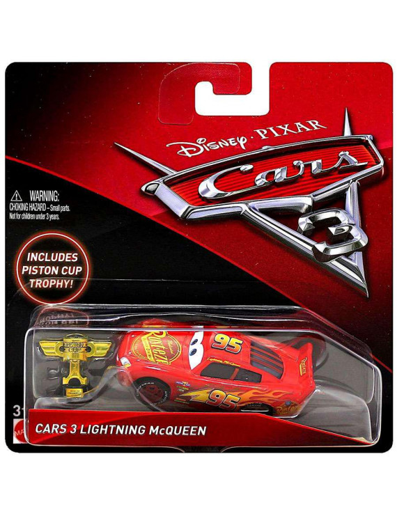 Disney Cars Cars 3 Lightning McQueen Diecast Car [with Piston Cup Trophy]