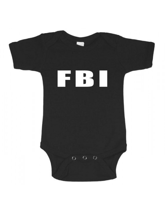 Infant one piece tee FBI decal baby t-shirt newborn snapsuit