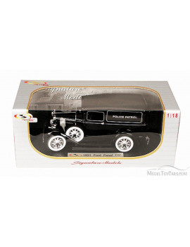 1931 Ford Panel Police Patrol Car, Black - Signature Models 18143 - 1/18 Scale Diecast Model Toy Car