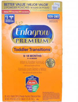 3 Pack - Enfagrow PREMIUM Non-GMO Toddler Transitions Formula - Powder Refill Box, 28 oz