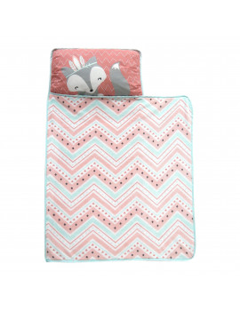 Lambs & Ivy Little Spirit Coral/Mint Southwest Fox Toddler Nap Mat