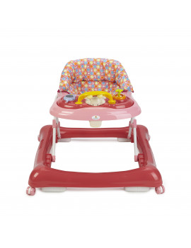 Big Oshi 2 in 1 Baby Walker & Activity Center on Wheels - Adjustable Seat - Pink