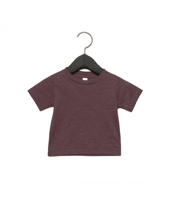 The Bella + Canvas Infant Jersey Short Sleeve T-Shirt - HEATHER MAROON - 3-6MOS