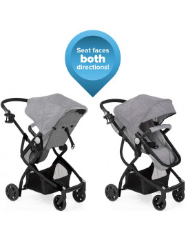 Urbini Omni Plus 3 in 1 Travel System, Special Edition, Heather Grey