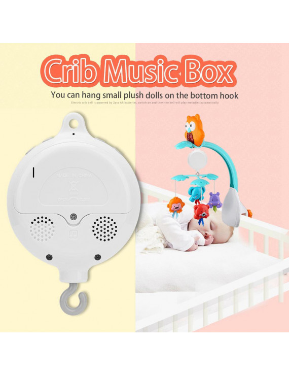 YLSHRF Crib Bed Bell,Baby Infant Crib Bed Hanging Musical Bell Electric Music Box 12pcs Sweet Melodies, Crib Bell