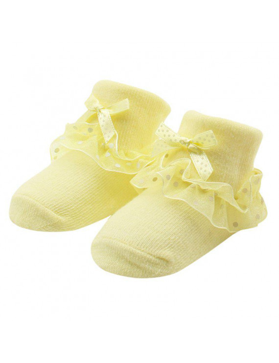 0-6M Newborn Toddler Baby Girl Lovely Lace Ruffle Frilly Cotton Ankle Socks
