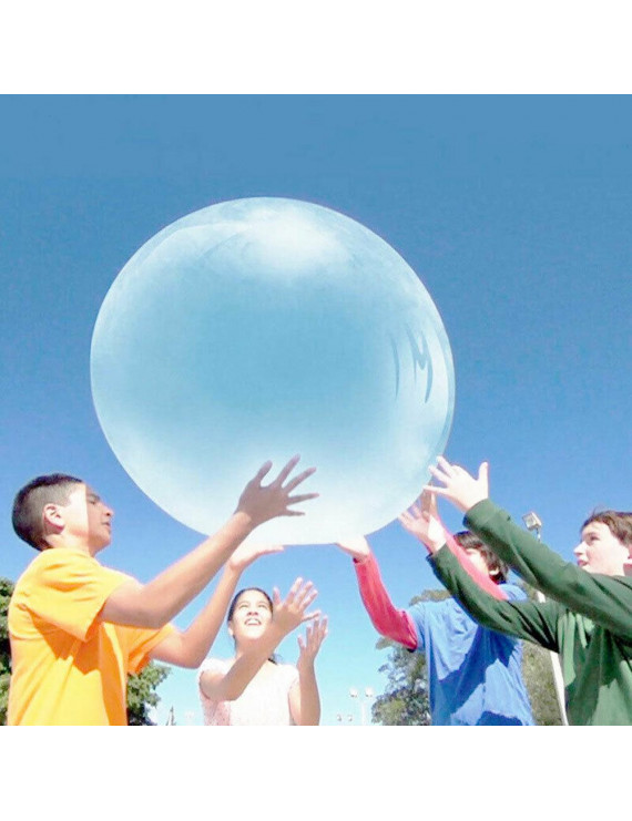 TPR Air Ball Transparent Bubble Ball Super Soft Stretch Inflatable Large Water Balloon with Pump