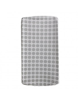 Change Pad Cover – Grey Mod Dot – Ultra Soft Velour Change Pad, Safe and Gentle for Baby Skin, Machine Washable, Fully Elasticized for Secure Fit, 100%.., By Living Textiles