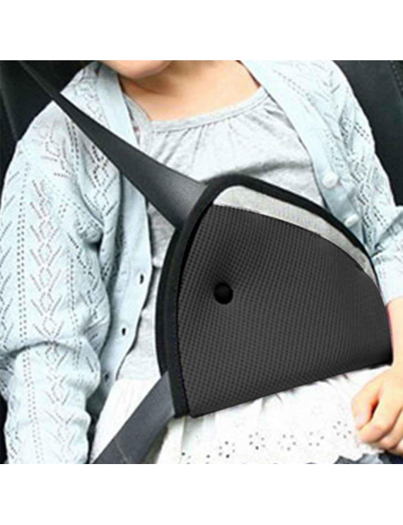 2PCS Child Safety Cover Shoulder Harness Strap Seatbelt Adjuster Kids Seat Belt Clip