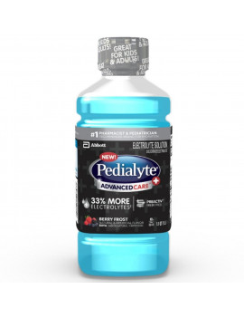 2 Pack - Pedialyte Advanced Care Plus Electrolyte Solution, Berry Frost, 1 Litre