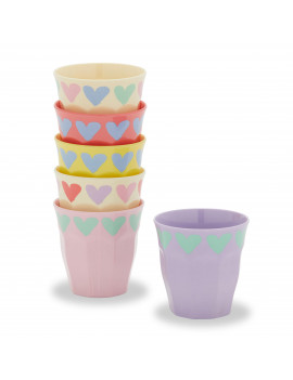 I Heart You Cup, 6 Pack by Drew Barrymore Flower Kids