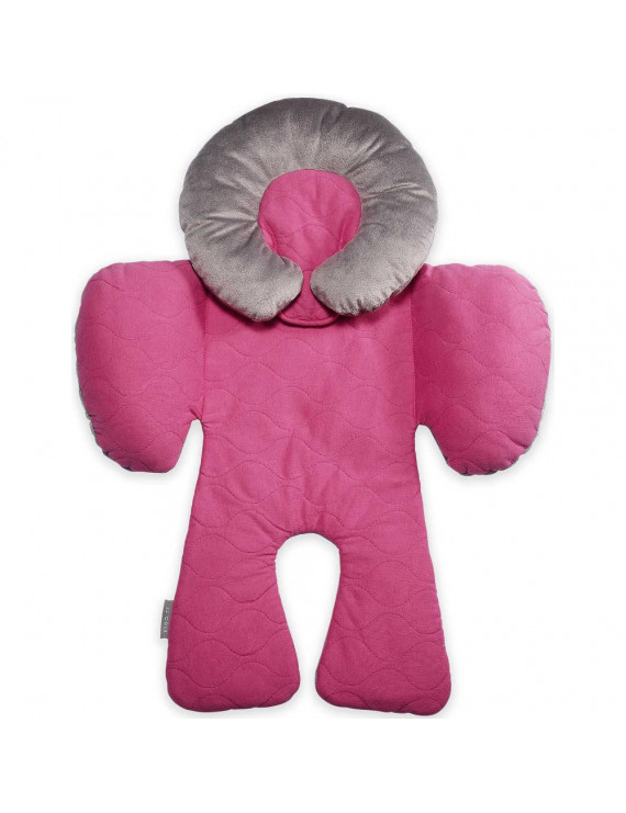 JJ Cole Body Support Pillow for a Car Seat - Sassy Pink Wave Stitch