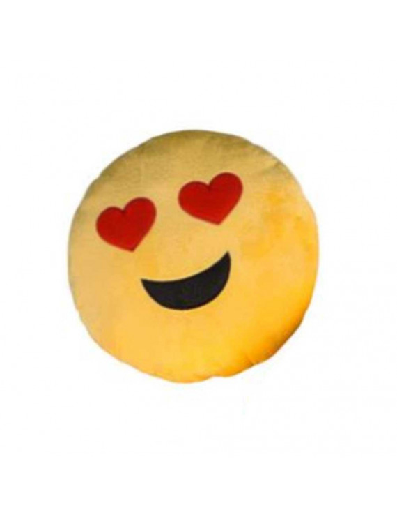 Heart Eyes Yellow Emoji Pillow Smiley Plush Cushion Cell Phone Emoticon Toy Love