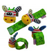 Miodk 1Pc Plush Frog Animal Wrist Rattle Foot Finder Handbell Development Baby Toy