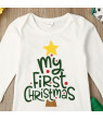 Newborn Baby Boy My First Christmas Romper Bodysuit Long Pants Outfit Clothes
