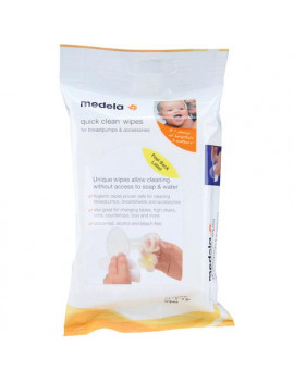 (4 Pack) Medela Quick Clean Breast Pump and Accessories Wipes - 24 count