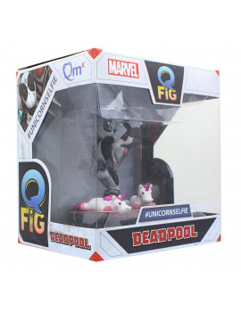 Marvel 3.5 Inch Q-Fig Mini Figure | X-Force Deadpool Unicorn Selfie