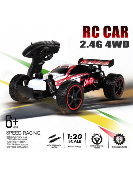 1:20 48KM/H  Fast & Furious Remote Control Sport Racing Car,Oversized Tires,Direction Fine Turning Off-Road Race Toy Car  For Kids