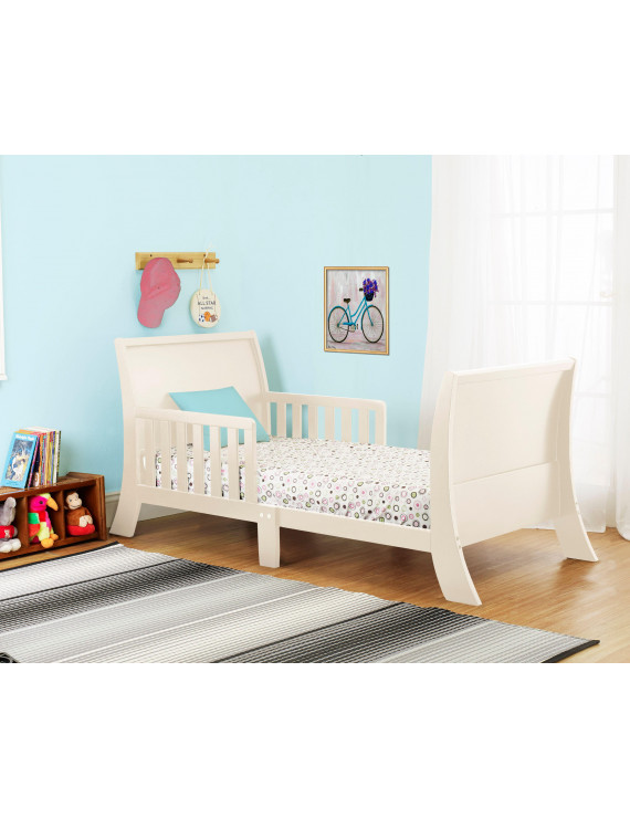 The Orbelle Louis Philippe Toddler Bed in French White