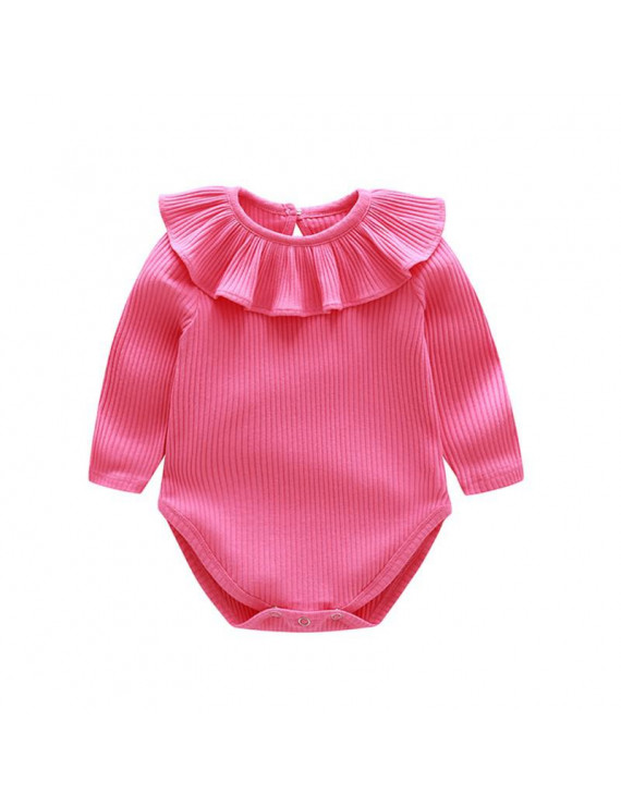 3-24M Autumn Infant Girls Rompers Long-sleeved Cotton Baby Romper Cartoon Jumpsuit