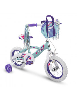 "Huffy Glimmer 12"" Age 3-5 Kids Bike Bicycle with Training Wheels, Sea Crystal"