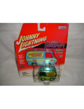 johnny lightning hollywood on wheels chrome green edition scooby-doo mystery machine van die-cast collectible, the mystery machine scooby doo