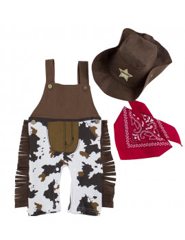 Baby Boy Overall Hat and Handkerchief 3-pc (12-18 Months)