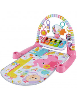 Fisher-Price Deluxe Kick & Play Removable Piano Gym, Pink