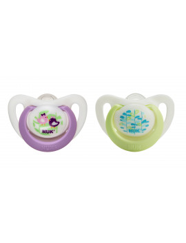 (2 Pack) NUK Advanced Orthodontic Pacifiers, 0-2 Months - 2 Counts (Colors May Vary)