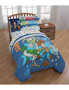 Toy Story 4 - Toys at Play - 3 Piece Twin Sheet Set