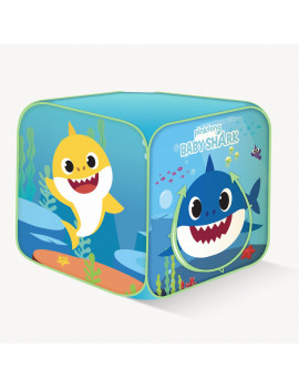 Playhut Pinkfong Baby Shark Classic Cube Pop-Up Play Tent ? Easy Pop-Up and Fold Down with 2 Crawl Thru Doors ? Ages 3 and up