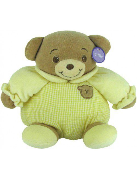 "Baby Bow Playtime Bear Yellow 11"" by Russ Berrie"