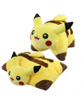 "17"" Pika Pillow - Pikachu Soft Plush Pillow Pet Pokemon Cushion Doll To"
