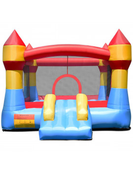 Gymax Inflatable Bounce House Castle Jumper Moonwalk Playhouse Slide Without Blower