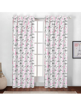 American Kids Bonjour Rose Gold Paris Curtain Panel, set of 2