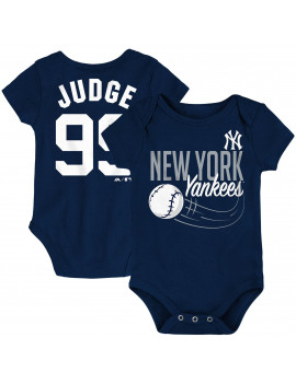 Aaron Judge New York Yankees Majestic Newborn & Infant Baby Slugger Name & Number Bodysuit - Navy
