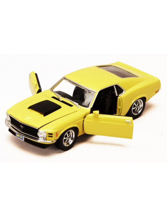1970 Ford Mustang Boss 429, Yellow - Showcasts 73303 - 1/24 Scale Diecast Model Car (Brand New, but NOT IN BOX)