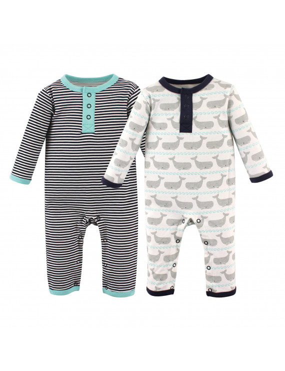 Hudson Baby Boy Cotton Coveralls 2-Pack