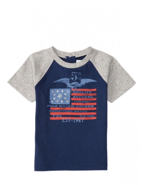 Baby Boys Cotton Graphic Baseball Tee - Size 6 Months